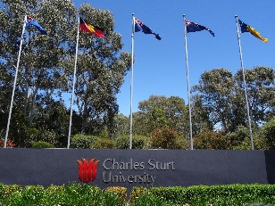 CSU Bathurst gateway 5 flags