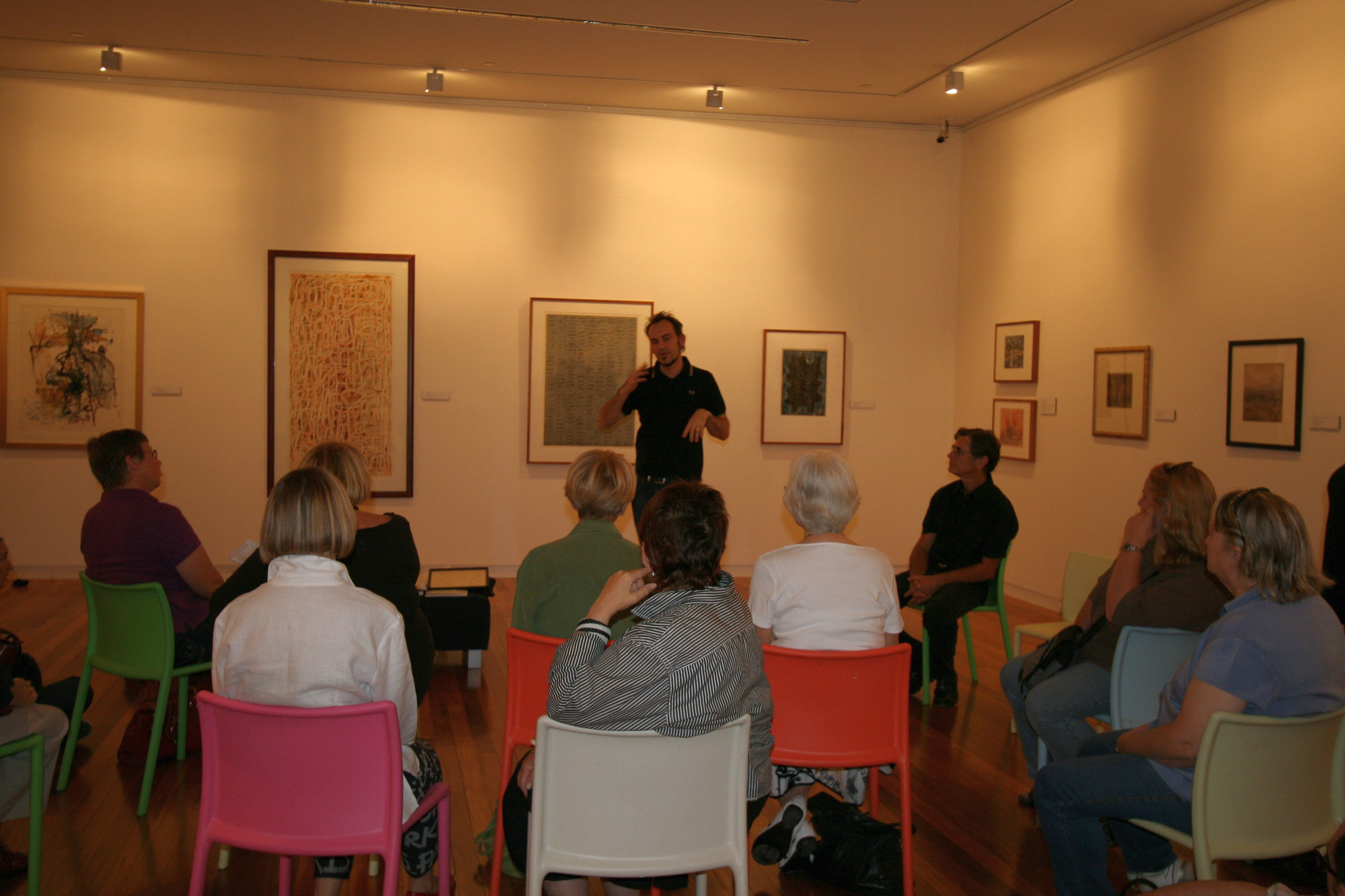 The opening of the MONOuno exhibition at the Wagga Wagga Art Gallery
