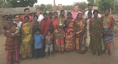 Gavin Ramsay and Toni Nugent, Graham Centre and Diana Parsons, Central West Farming Systems met with women farmers in India as part of a project between the Graham Centre, Central West Farming Systems and PRADAN