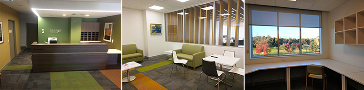 Composite of the interior of the Baiada Murrumbidgee Clinical Teaching and Learning Centre