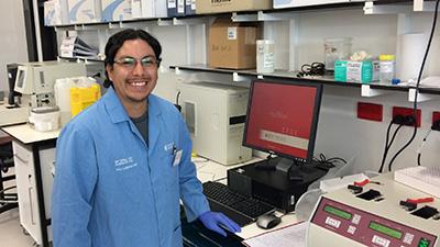 PhD student Erick Morales Polanco