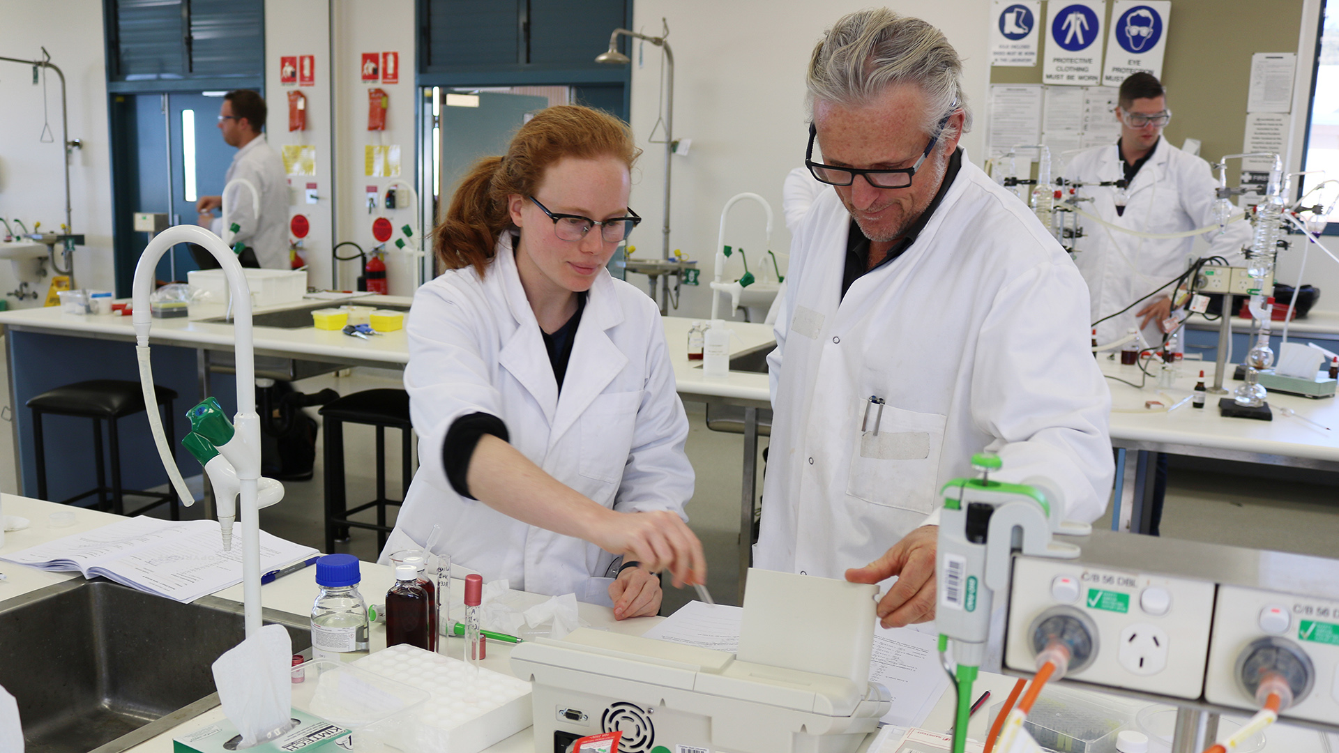 photo of students in a laboratory