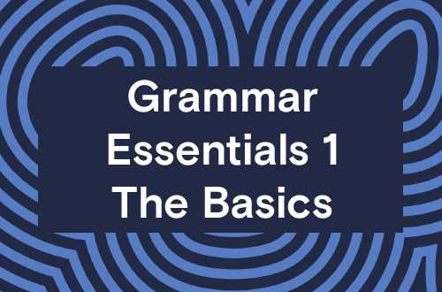 Grammar Essentials 1 - The Basics