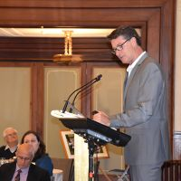 """Dr Richard Egan delivered the 5th keynote address: """"Spirituality in ageing from across the ditch: New Zealand perspectives"""" on Wednesday 30 October. Photograph by Sarah Stitt"""