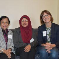 Professor Kalyani Mehta,  Mahjabeen Ahmad & Meredith Lake . Photograph by Sarah Stitt