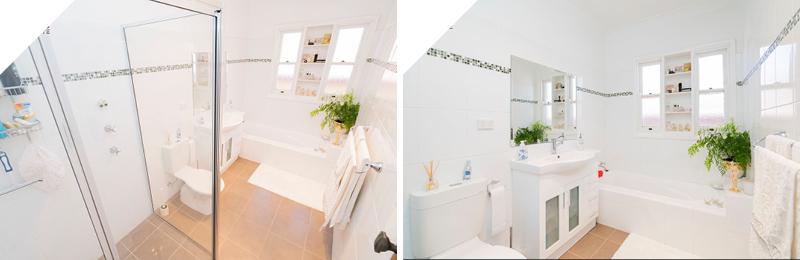 Composite of the bathroom facilities