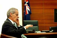 CSU's Vice-Chancellor Professor Ian Goulter in Canberra for the Budget session