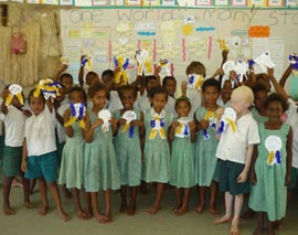 A Vanuatu classroom scene from a previous CSU student practicum placement