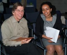 Prof Dolf de Groot and Ms Hiyoba Ghirmay