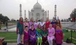CSU nursing students at the Taj Mahal