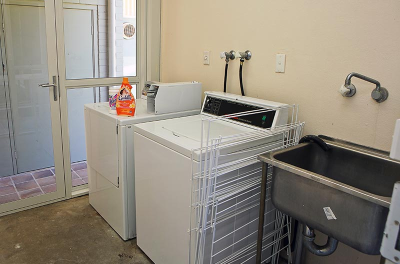 Laundry area in the Diggings
