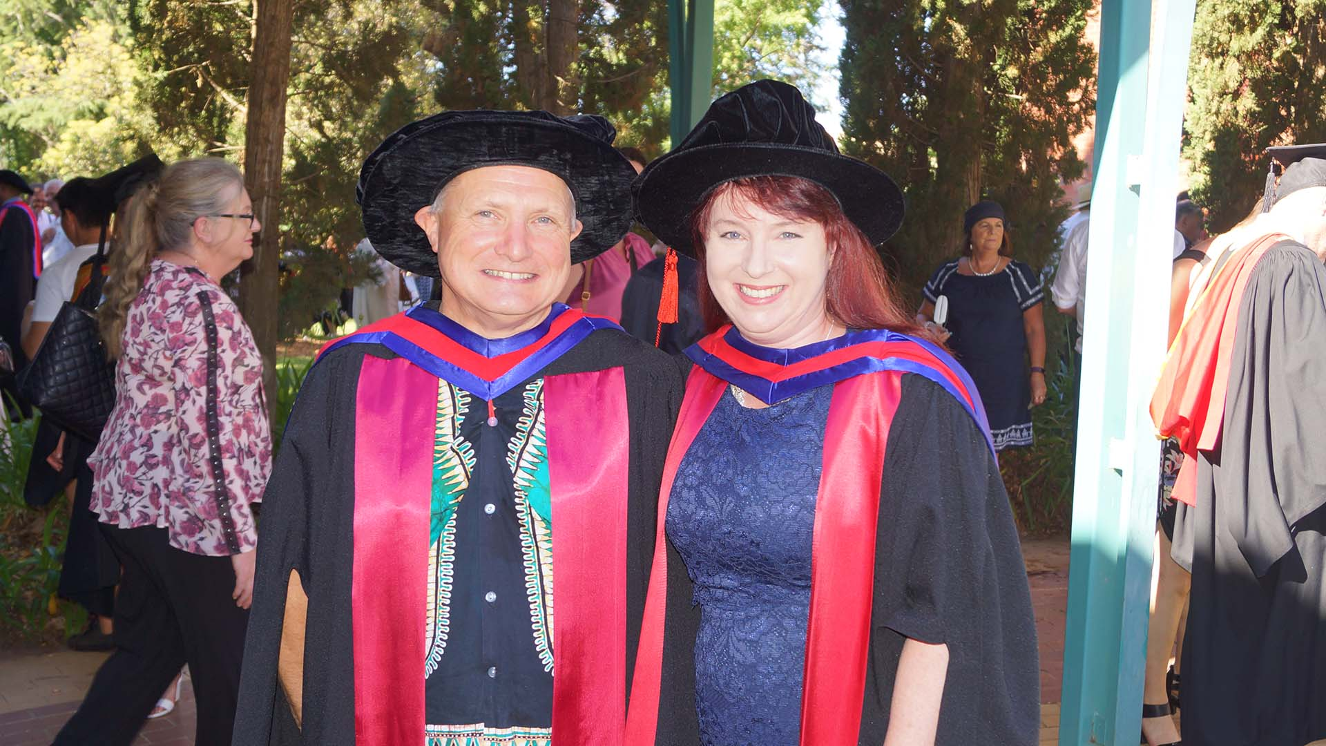 Dr Kylie Crampton with her supervisor Dr John Harper