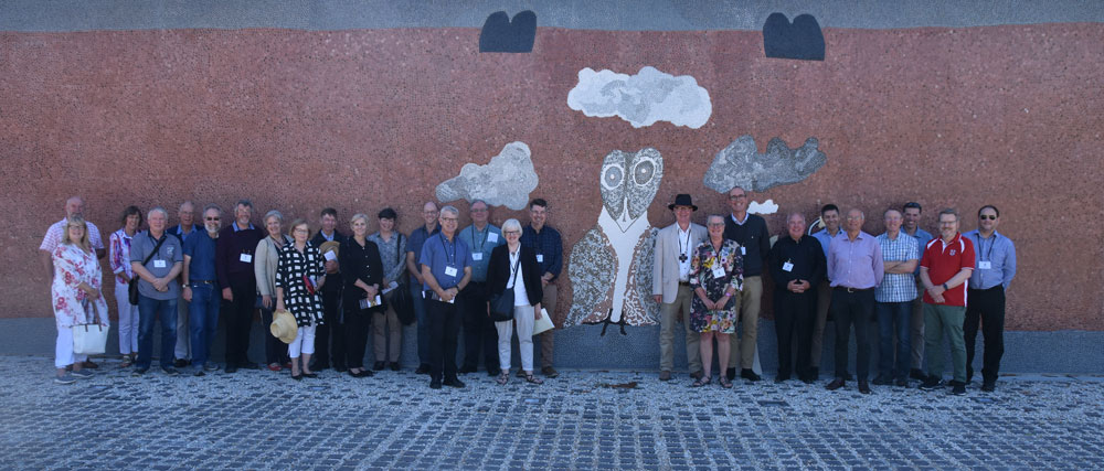 Anglican Bishops outside the Mural Wall