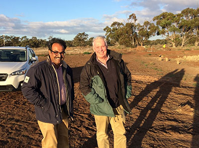 Dr Gopala Krishnan and Russell Ford