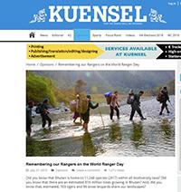 Kuensel - Remembering our rangers