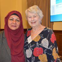 Mahjabeen Ahmad & Rev Professor Elizabeth MacKinlay. Photograph by Sarah Stitt