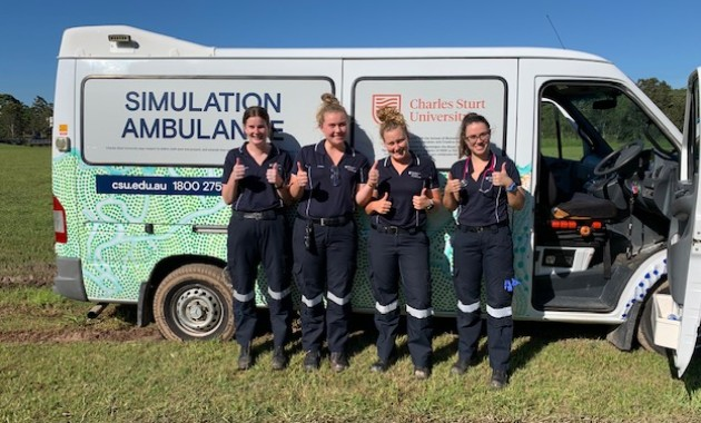Charles Sturt welcomes new ambulance simulation vehicles featuring Indigenous artwork