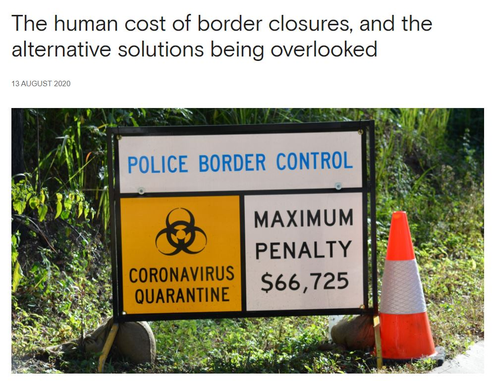 human cost of border closures