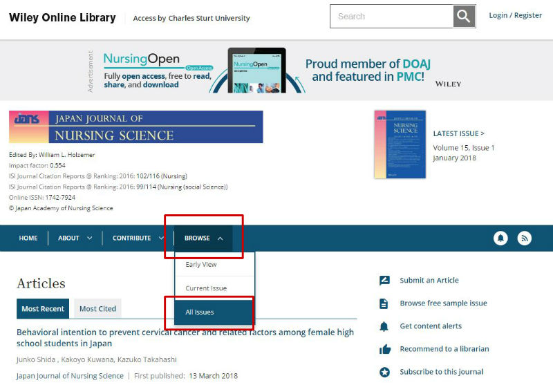 screen sample of the Wiley website with the 'See All' link highlighted