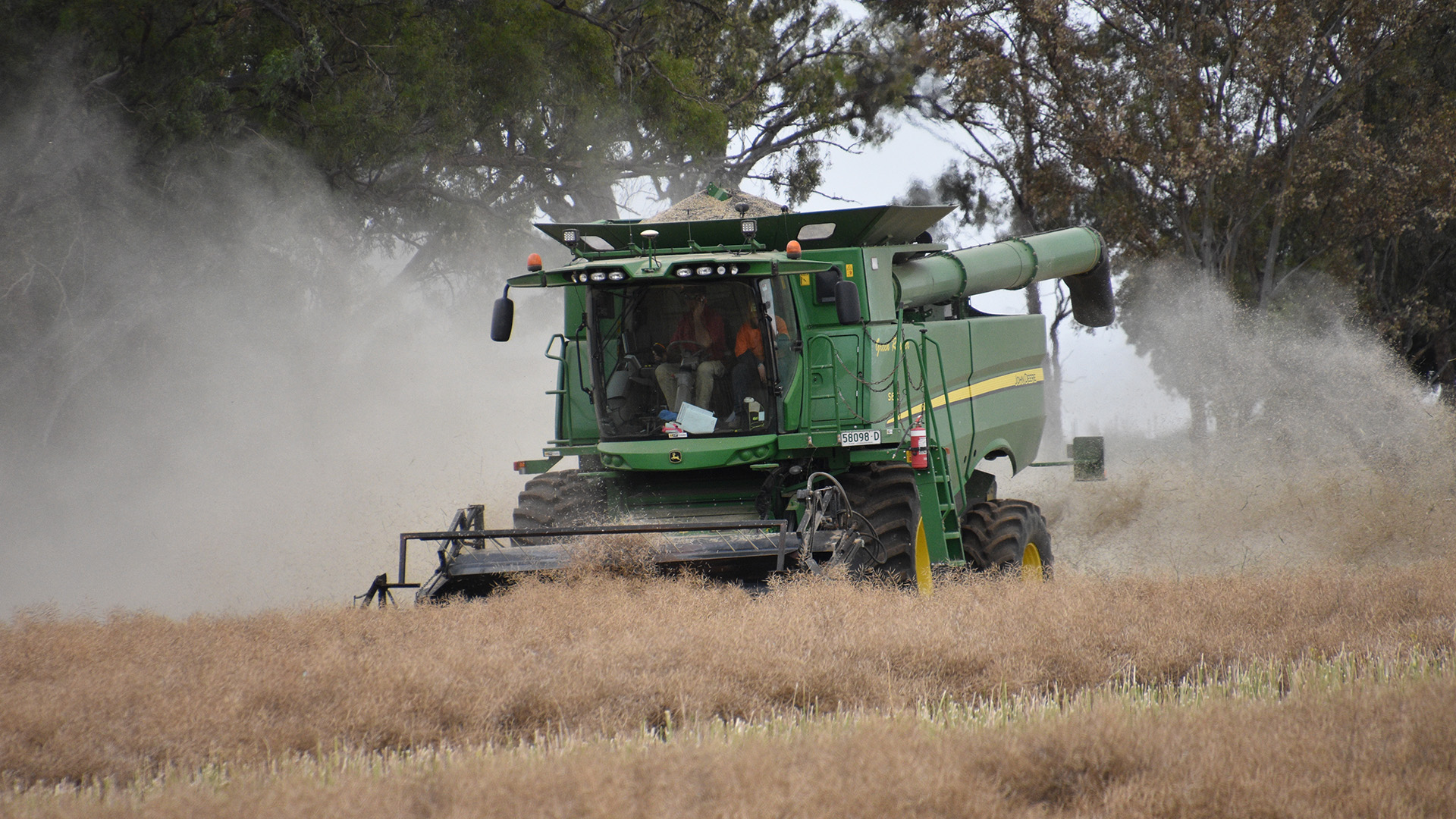 The harvester has been fitted with a whole grain analyser