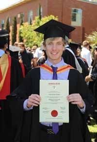 CSU graduate Mr Josh Wyper.