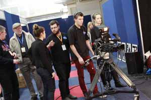 Television production students from CSU in action at the SMPTE Australia 2013 in Sydney.