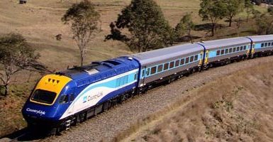 XPT travelling