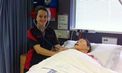 CSU nursing student Ms Mikaela Dart