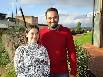 Lorena Nogueira and Professor Luiz Silva