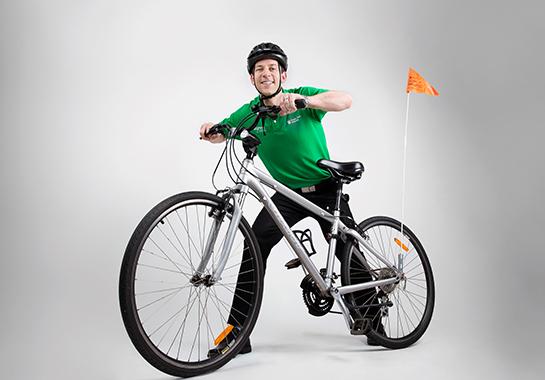 Ed with a mountain bike