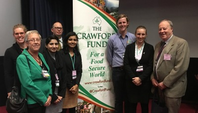 Graham Centre staff and students at the Crawforrd Fund Conference