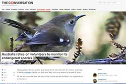 The Conversation - volunteers monitoring engangered species