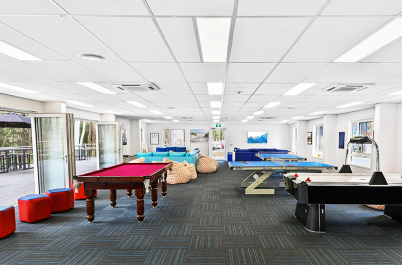 Games area including Pool and Table Tennis