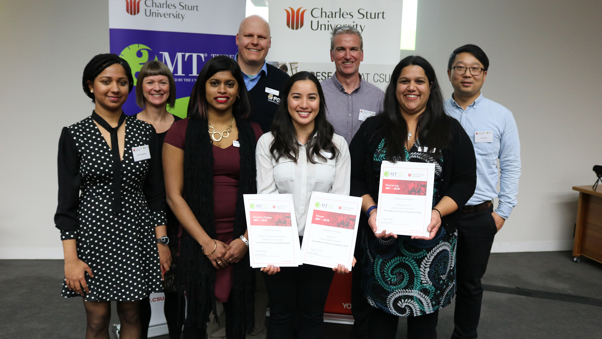 The finalists at the CSU 3MT