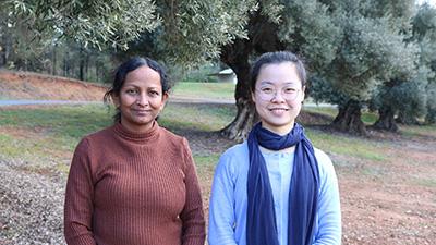 photo of Ms Stella Antony and Ms Yin Liu