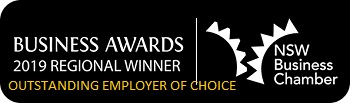 NSW Business Chamber Awards 2019 Regional Winner Outstanding Employer of Choice