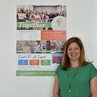 Poster Presenter Daphne Johnston. Photograph by Sarah Stitt