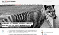 The Conversation - extinct species in Australia