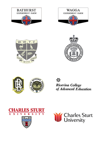 Examples of the logo as it has evolved over the last 30 years