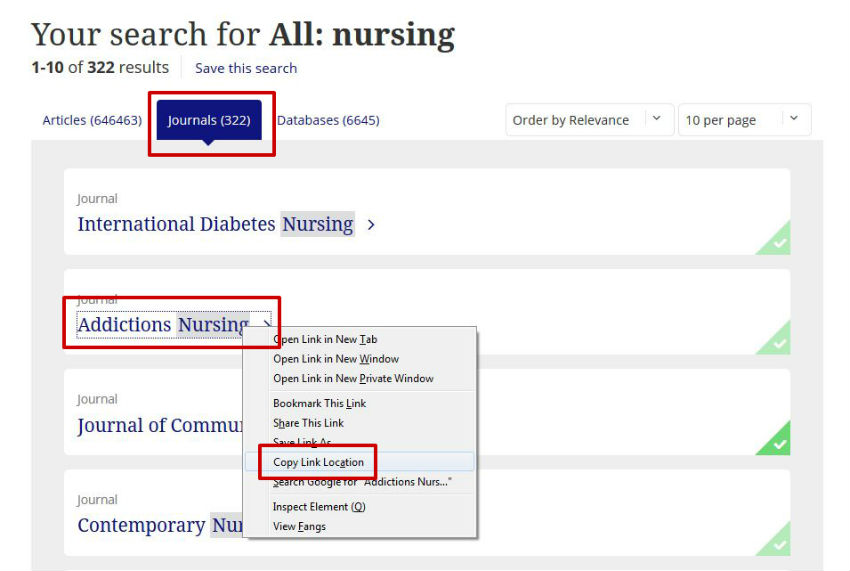 screen sample of the Taylor & Francis website with the journal title highlighted