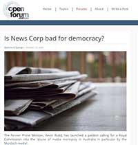 Is News Corp bad for democracy?