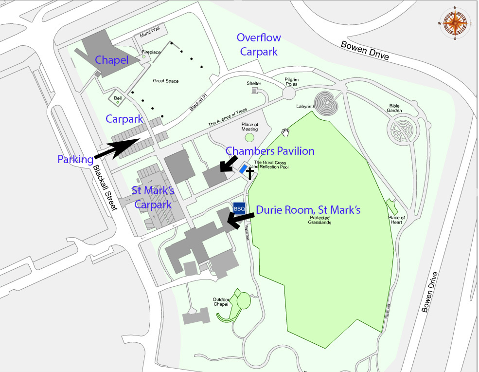 Map of conference location in Canberra