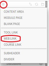 Weblink content area