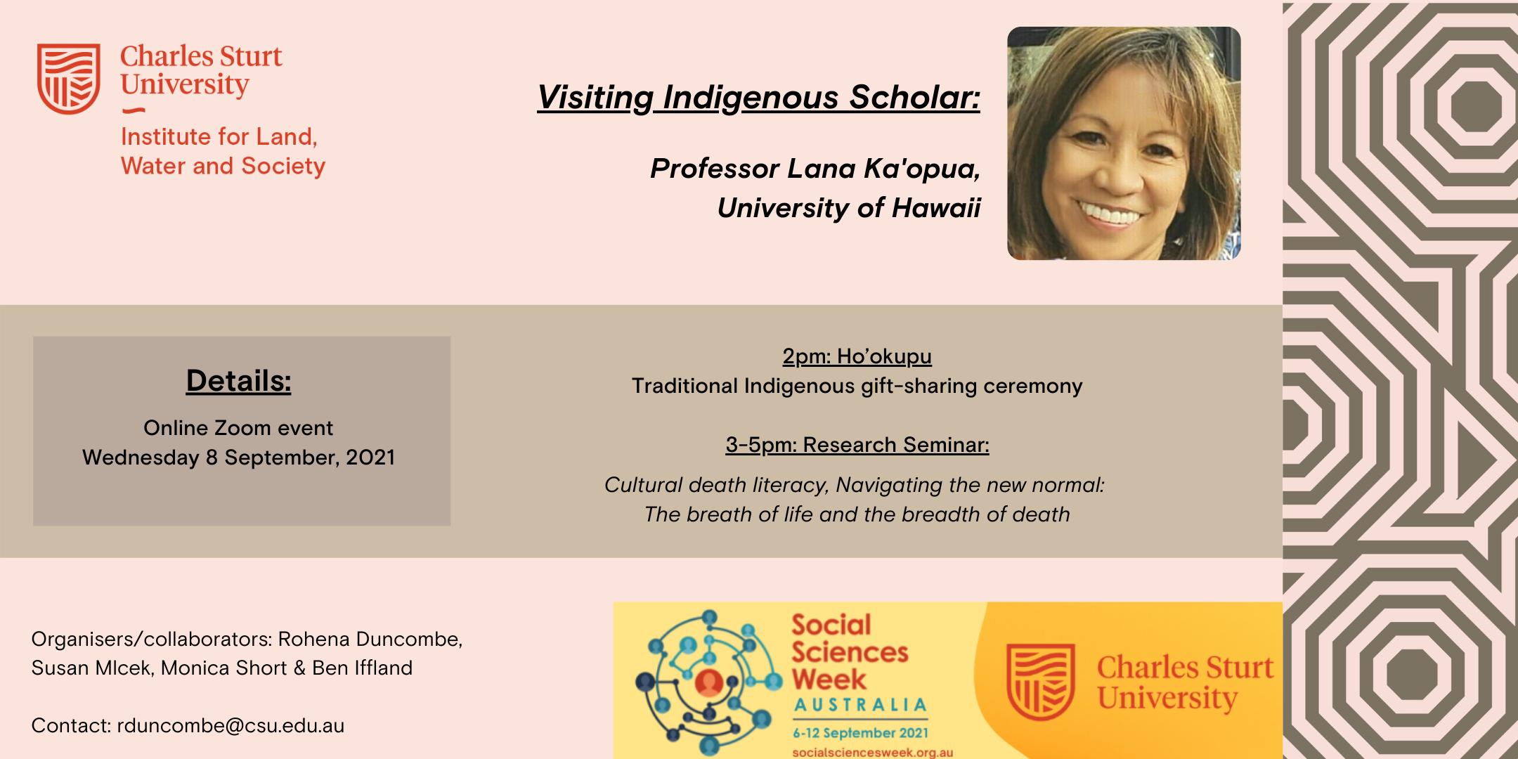 Visiting Indigenous Scholar