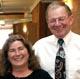 Professors Bob Perry (right) and Sue Dockett at CSU.