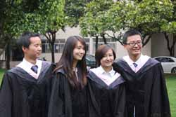 Graduates in 2011 from the Yunnan University of Finance and Economics.