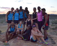 Ms Elise Hull, centre, with the IMP squad in Alice Springs earlier this year.