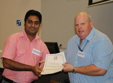 Mr Shoaib Tufail was awarded the Best Late Stage Oral presentation award at the ASAP Student Workshop