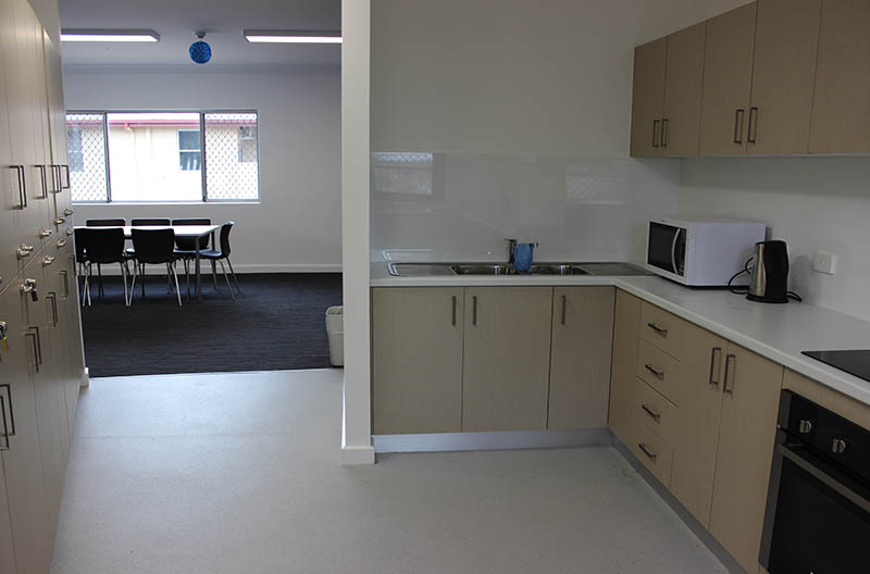 Kitchen and eating areas