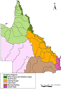 Queensland regions map
